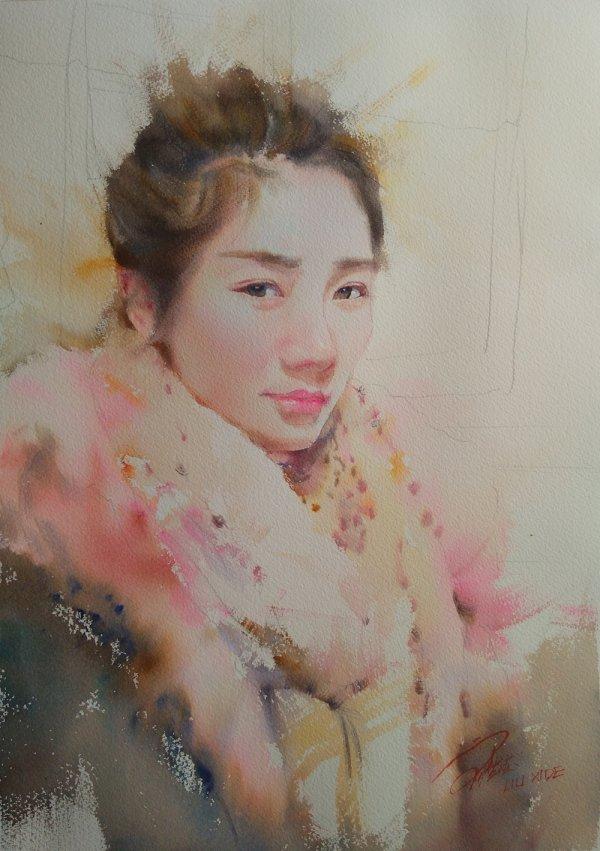 LIU-XIDE-Young-Girl-38x55cm